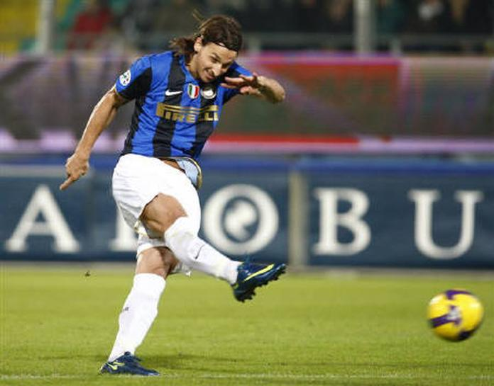 Ibrahimovic Double Sends Inter Clear At Top Reuters