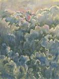 """<p>""""Il tramonto tra le nuvole I"""", olio su tela, 1993, una delle opere del pittore greco Basil Theocharakis, in mostra a Palazzo Venezia a Roma da domani. REUTERS</p>"""