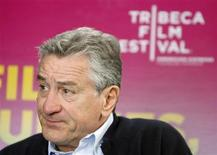 <p>Actor and director Robert De Niro waits for the start of a media day regarding this year's Tribeca Film Festival in New York April 13, 2008. REUTERS/Lucas Jackson</p>