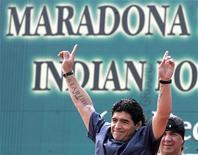 <p>Maradona a Kolkata. REUTERS/Parth Sanyal</p>