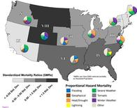 <p>A handout graphic shows Proportional hazard Mortality and Standardized Mortality Ratios. REUTERS/BioMed Central/Handout</p>