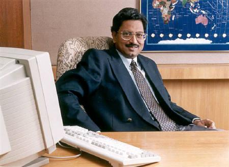 Undated handout photograph of B.Ramalinga Raju, chairman, Satyam Computer Services, in his office in Hyderabad. REUTERS/Handout Old
