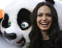 """<p>Angelina Jolie al lancio del Dvd del film di animazione """"Kung Fu Panda"""" a Hollywood. REUTERS/Mario Anzuoni</p>"""