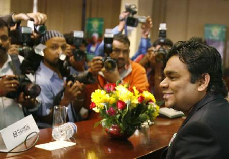 Composer A. R. Rahman seen during a news conference in New Delhi in this March 13, 2007 file photo. REUTERS/Tanushree Punwani