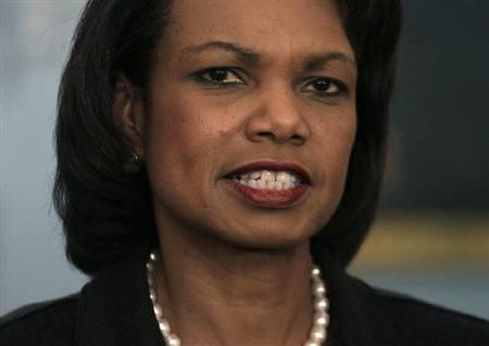 U.S. Secretary of State Condoleezza Rice speaks at the State Department in Washington in  this December 18, 2008 file photo. REUTERS/Yuri Gripas