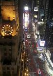 <p>Revelers await midnight during New Year's festivities at Times Square in New York December 31, 2007. REUTERS/Lucas Jackson</p>