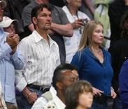 <p>File photo shows Patrick Swayze and his wife Lisa Niemi in Los Angeles May 23, 2008. REUTERS/Danny Moloshok</p>