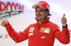 <p>Il pilota della Ferrari Felipe Massa. REUTERS/Stefano Rellandini</p>