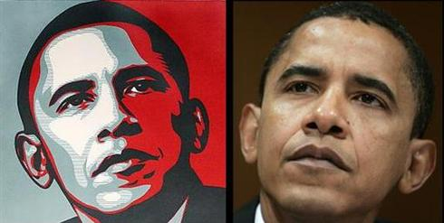 Iconic Obama poster based on Reuters photo