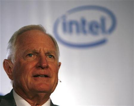 Intel Corporation Chairman Craig Barrett attends a news conference in New Delhi in this September 5, 2007 file photo. REUTERS/Tanushree Punwani