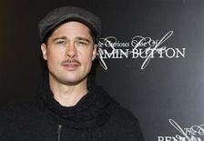 """<p>L'attore Brad Pitt, interprete del film """"Il curioso caso di Benjamin Button"""". REUTERS/Gonzalo Fuentes (FRANCE)</p>"""