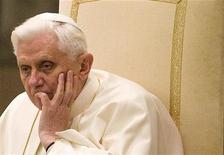<p>Un'immagine di Papa Benedetto XVI. REUTERS/Tony Gentile</p>
