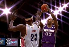 <p>An undated screenshot from the videogame NBA Live 09, courtesy of EA Sports. REUTERS/Electronic Arts/Handout</p>
