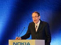 <p>Il presidente di Nokia Jorma Ollila. REUTERS/Gustau Nacarino</p>