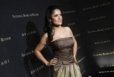 <p>Actress Salma Hayek arrives at the 2008 National Board of Review awards gala in New York January 14, 2009. REUTERS/Shannon Stapleton</p>