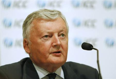 International Cricket Council (ICC) president David Morgan speaks during the ICC annual conference in Dubai in this July 3, 2008 file photo. REUTERS/Jumana El Heloueh