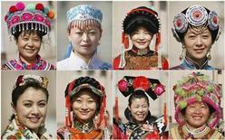 <p>Delegadas de grupos de minorías etnicas usan sombreros tradicionales antes de una sesión parlamentaria en Pekín, 9 mar 2009. Para algunos legisladores chinos, la reunión anual del Parlamento suele ser también una pasarela de modas. Los que más coloridos son las minorías étnicas, rodeadas normalmente por periodistas tan interesados en fotografiarlos, como en fotografiarse junto a ellos. REUTERS/Christina Hu</p>