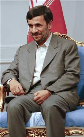 Iran's President Mahmoud Ahmadinejad attends a meeting with Turkey's President Abdullah Gul (not pictured) in Tehran March 10, 2009. REUTERS/Raheb Homavandi/Files