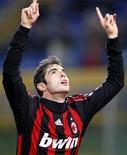 <p>Kaká, em foto de arquivo, pode perder sua vaga caso o sistema tático do Milan mude para o jogo contra o Siena, no domingo. REUTERS/Giampiero Sposito</p>