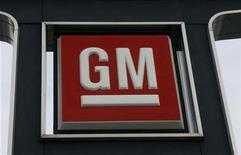<p>A General Motors logo is seen at a car dealership in Toronto December 12, 2008. REUTERS/Mike Cassese</p>