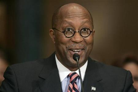 U.S. Trade Representative Ron Kirk testifies during his confirmation hearing before the U.S. Senate Finance Committee on Capitol Hill in Washington March 9, 2009. REUTERS/Hyungwon Kang