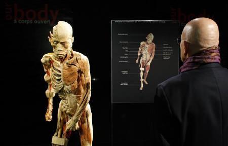 4月21日、フランスの裁判所はパリでの人体展「Our Body」に中止命令を下した。写真は3日撮影(2009年 ロイター/Benoit Tessier)