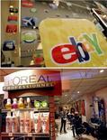 <p>eBay a remporté une bataille juridique en Grande-Bretagne contre le groupe français de cosmétiques L'Oréal, qui voulait faire valoir que le spécialiste américain des ventes aux enchères en ligne pouvait être tenu légalement responsable de la vente de produits contrefaits sur son site. /Photos d'archives/REUTERS/Robert Galbraith et Eric Gaillard</p>