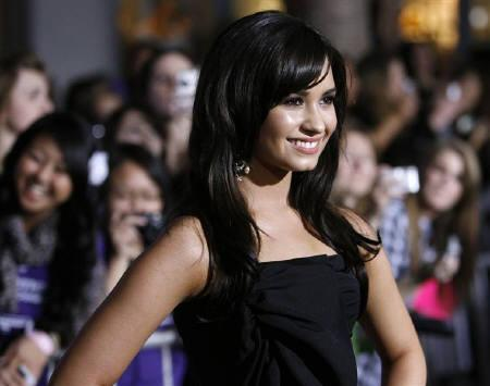 Cast member Demi Lovato poses at the premiere of ''Jonas Brothers: The 3D Concert Experience'' at El Capitan theatre in Hollywood, California in this February 24, 2009 file photo. REUTERS/Mario Anzuoni/Files