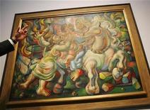 <p>Foto de archivo de 'Fuego en el batey', del pintor cubano nacionalizado chileno Mario Carreño's en una muestra de la casa de remates Christie's en Nueva York, EEUU, 26 mayo 2009. Obras de arte latinoamericanas recaudaron un total de más de 11 millones de dólares en una venta que fijó cinco récords de subastas mundiales para los artistas, dijo Christie's. REUTERS/Shannon Stapleton</p>