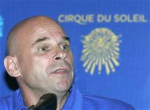 <p>Cirque du Soleil impresario Guy Laliberte speaks during a news conference in Moscow, June 4, 2009.REUTERS/Alexander Natruskin</p>
