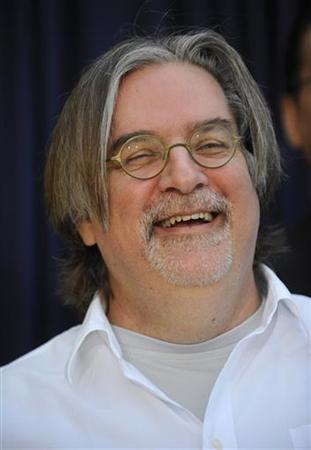 Matt Groening attends the unveiling of the new ''The Simpsons'' U.S. postage stamps in Los Angeles May 7, 2009. REUTERS/Phil McCarten