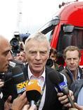 <p>Il presidente della Federazione Internazionale dell'Auto (Fia) Max Mosley, fotografato il 21 giugno scorso a Silverstone, Inghilterra. REUTERS/Yves Herman</p>