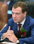<p>Russian President Dmitry Medvedev delivers a speech during his official visit to Namibia in Windhoek, June 25, 2009. REUTERS/RIA Novosti/Kremlin/Mikhail Klimentyev</p>
