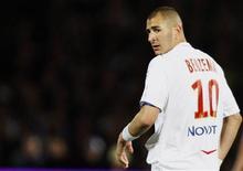 <p>Karim Benzema do Olympique Lyon. 19/04/2009. REUTERS/Regis Duvignau</p>