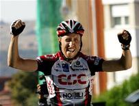 <p>Il ciclista danese Nicki Sorensen in un'immagine di archivio. REUTERS/Gustau Nacarino</p>