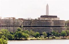 <p>The Watergate hotel and condominium complex pictured on the Potomac River in Washington, June 17, 2002.</p>