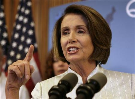 Speaker of the House Nancy Pelosi gestures during a news conference on the America's Affordable Health Choices Act on Capitol Hill in Washington July 22, 2009. REUTERS/Yuri Gripas