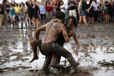 Mud, music and mayhem