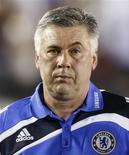 <p>Técnico do Chelsea, Carlo Ancelotti, em jogo contra a Inter de Milão em Pasadena. 21/07/2009. REUTERS/Lucy Nicholson</p>