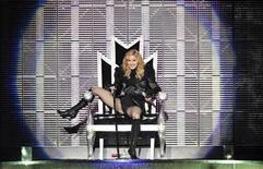 <p>U.S. pop singer Madonna performs during her Sticky and Sweet Tour concert at Ullevi stadium in Gothenburg, Sweden, August 8, 2009. REUTERS/Adam Ihse/Scanpix Sweden</p>