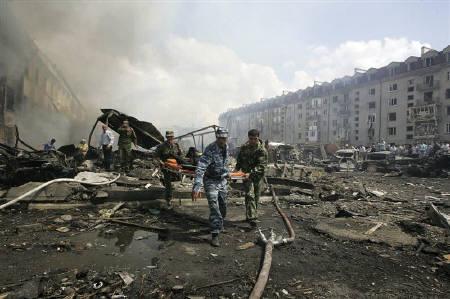 8月17日、ロシア南部イングーシ共和国で自爆攻撃、20人死亡・138人負傷(2009年 ロイター)