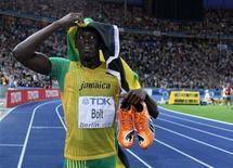 <p>L'atleta giamaicano Usain Bolt. REUTERS/Dominic Ebenbichler (GERMANY)</p>