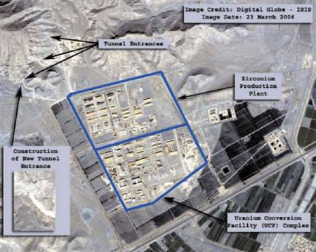 A view of the uranium conversion site at Isfahan, Iran, is seen in this DigitalGlobe satellite image released with notations by the Institute for Science and International Security (ISIS) on April 16, 2006, file photo. REUTERS/DigitalGlobe-ISIS