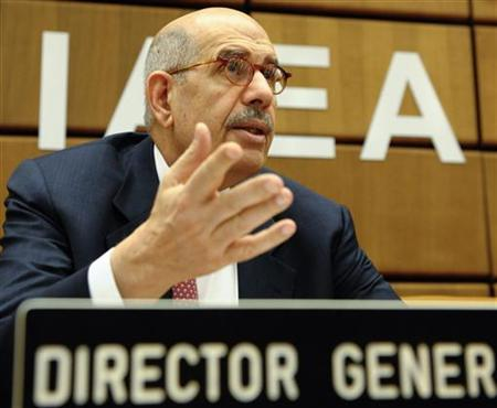 International Atomic Energy Agency IAEA Director General Mohamed ElBaradei attends a board of governors meeting in Vienna June 18, 2009. REUTERS/Herwig Prammer