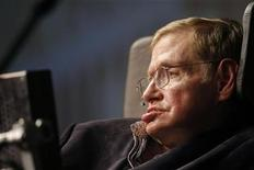 <p>Theoretical physicist Stephen Hawking addresses a public meeting in Cape Town, May 11, 2008. REUTERS/Mike Hutchings</p>