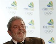 <p>Presidente Luiz Inácio Lula da Silva puxa lobby brasileiro em campanha do Rio 2016 em Copenhague. REUTERS/Pawel Kopczynski</p>