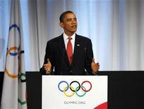 <p>Il presidente Usa Barack Obama a Copenhagen per sostenere la candidatura du Chicago per ospitare i giochi olimpici del 2016. REUTERS/Kevin Lamarque (DENMARK POLITICS SPORT OLYMPICS)</p>