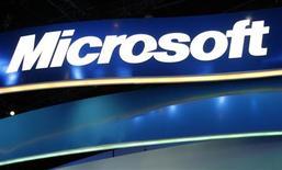 <p>Le moteur de recherche en ligne de Microsoft, Bing, a cédé du terrain aux Etats-Unis le mois dernier. Sa part de marché est passée de 9,64% en août à 8,51% en septembre, son premier revers depuis son lancement en juin. /Photo d'archives/REUTERS/Rick Wilking</p>