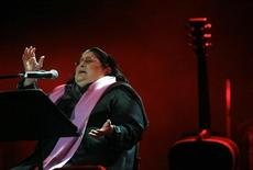 <p>La cantante argentina Mercedes Sosa durante un concerto a Tel Aviv. REUTERS/Pavel Wolberg/Pool</p>