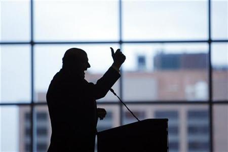 Microsoft CEO Steve Ballmer speaks at the Boston College Chief Executives Club luncheon in Boston, Massachusetts October 16, 2009. REUTERS/Brian Snyder